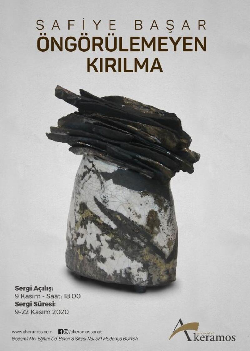 Safiye Başar'ın 'Öngörülemeyen Kırılma' adlı sergisinin açılışı 9 Kasım'da Bursa'da yapılacak