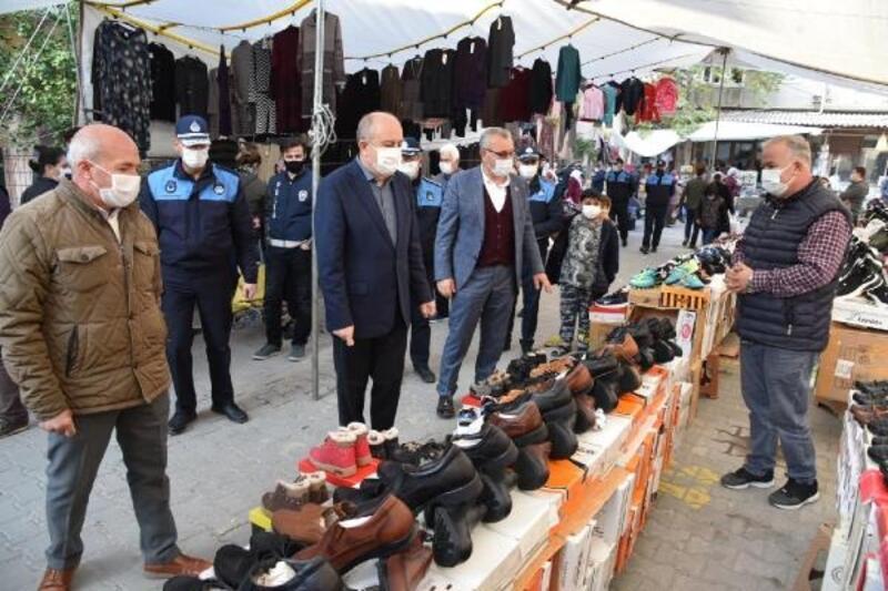 Keşan'da kaymakam ve belediye başkanından pazar denetimi