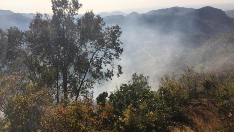 Gazipaşa'da bahçe yangını