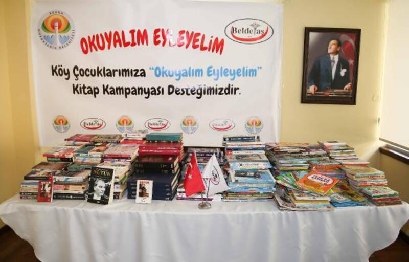 Büyükşehir'den kırsaldaki okullara kitap desteği