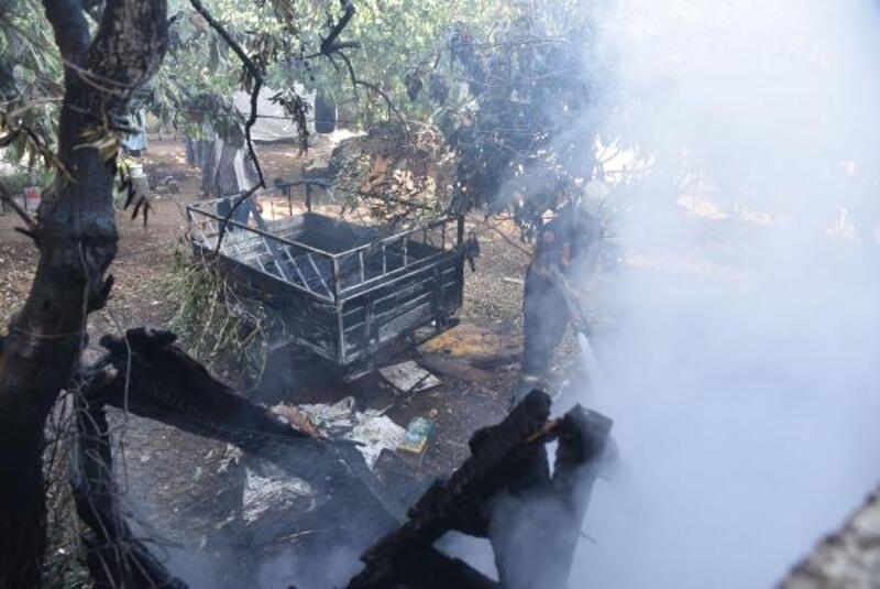 Elektrik akımı kaçağı yangına neden oldu