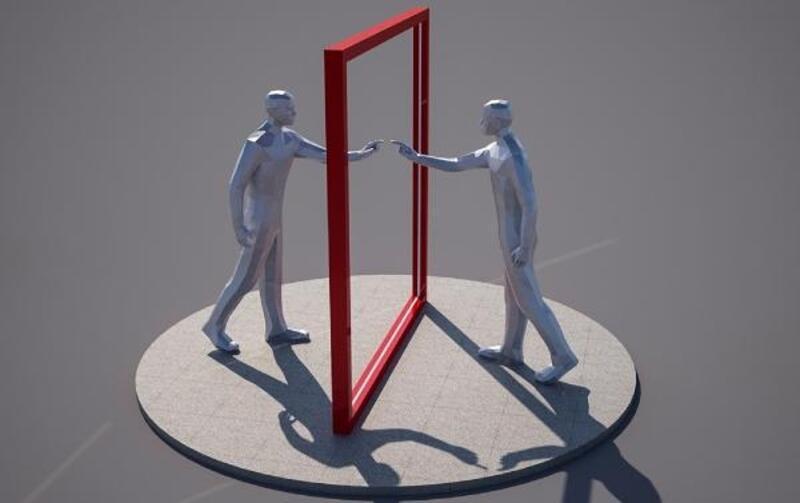 Millet Bahçesi'ne 'Dünya Aynası' heykeli