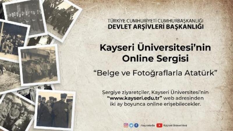 Kayseri Üniversitesi'nde online Atatürk sergisi açıldı