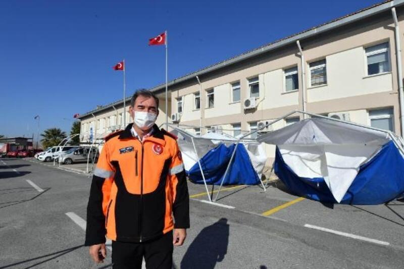 Deprem bölgesindeki işi biten çadırlar temizlenip, depolara kaldırılıyor