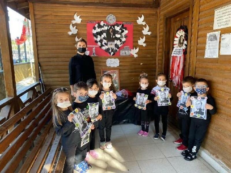 Büyükşehir'in minikleri Ata'yı saygıyla andı