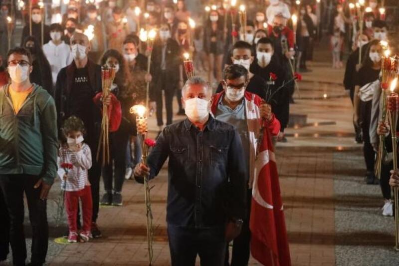 Manavgat'ta Atatürk'e anlamlı anma töreni