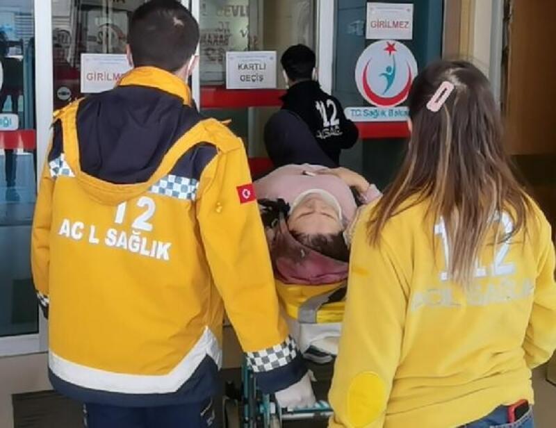 Temizlik yaptığı merdivenlerden düşen kadın yaralandı