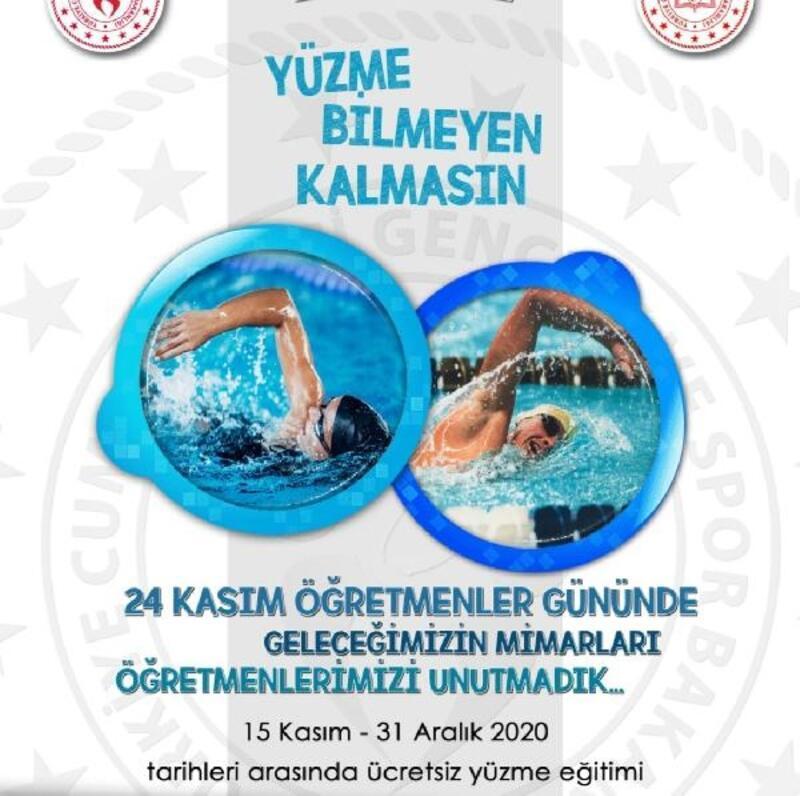 Öğretmenlere ücretsiz yüzme eğitimi