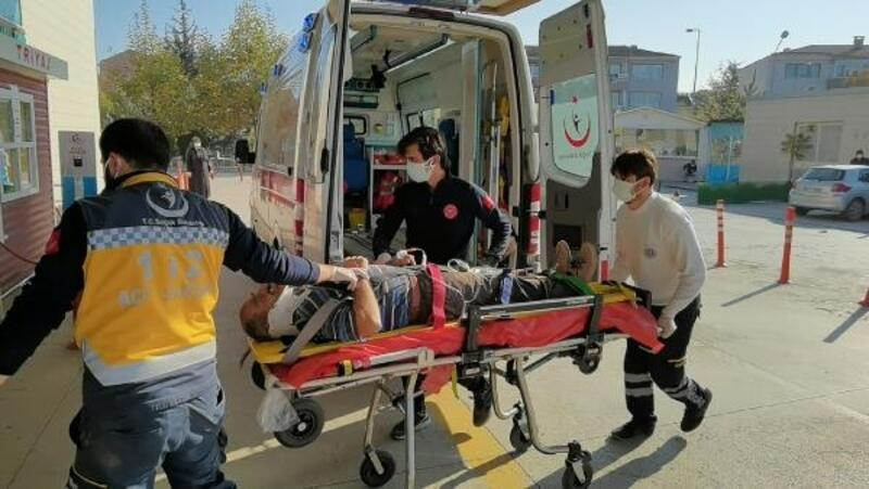 Asansör boşluğuna düşen işçi, yaralandı