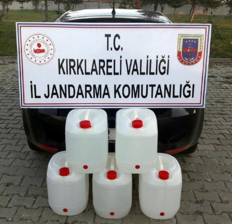 Kırklareli'de 400 litre sahte içki ele geçirildi