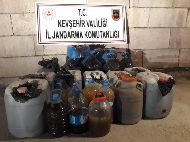 Nevşehir'de 460 litre kaçak şarap ele geçirildi