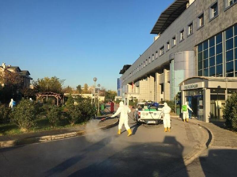 Büyükşehir Belediyesi'nden hastanelerde dezenfekte çalışması