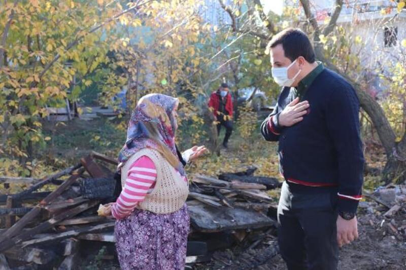 AK Parti'den evi yanan aileye ziyaret