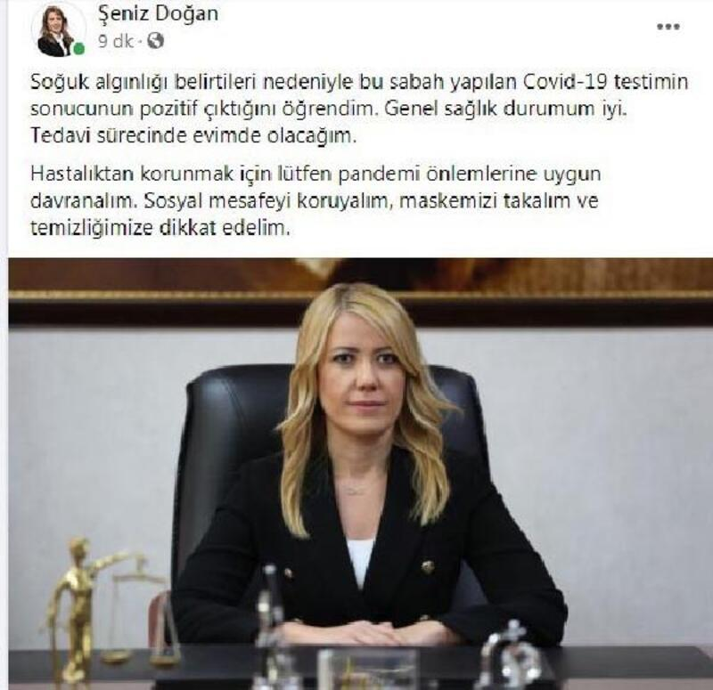 Merkezefendi Belediye Başkanı Şeniz Doğan koranavirüse yakalandı