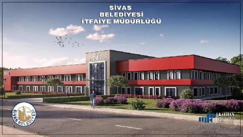 Sivas'ta yeni itfaiye binası 2021'de hizmete girecek