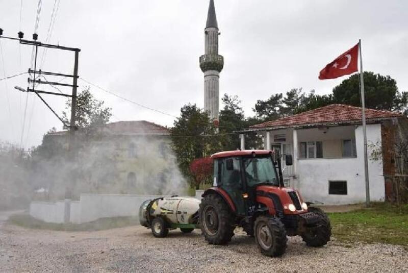 Çan Belediyesi ekipleri, köyleri dezenfekte ediyor