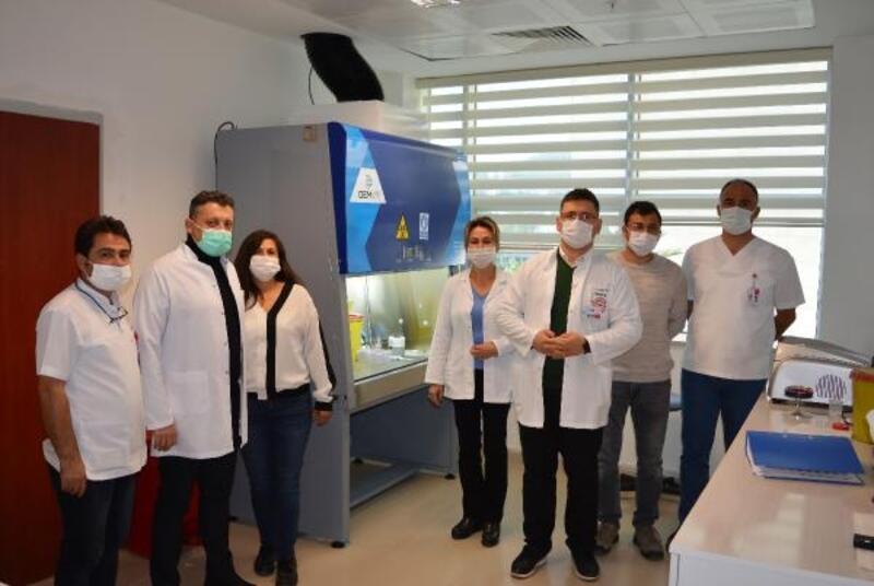 Finike Devlet Hastanesi'nde koronavirüs testleri başladı