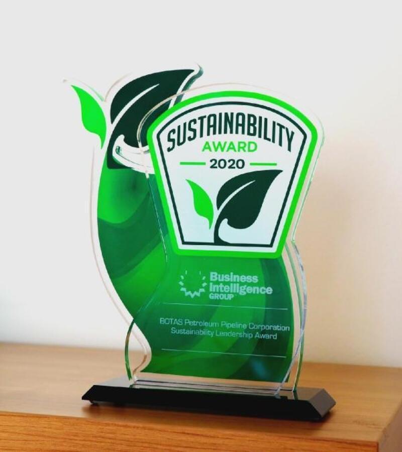 BOTAŞ'a 'Sürdürülebilir Liderlik' ödülü