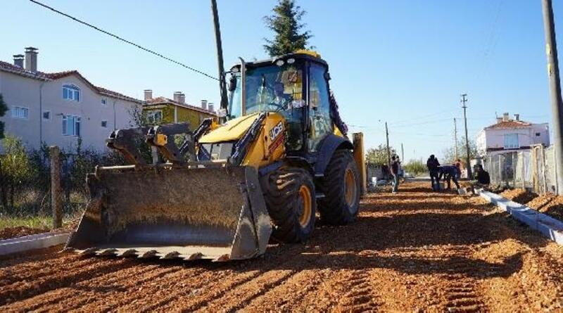 Lüleburgaz'da, 2 bin 500 metrekare parke taş çalışması