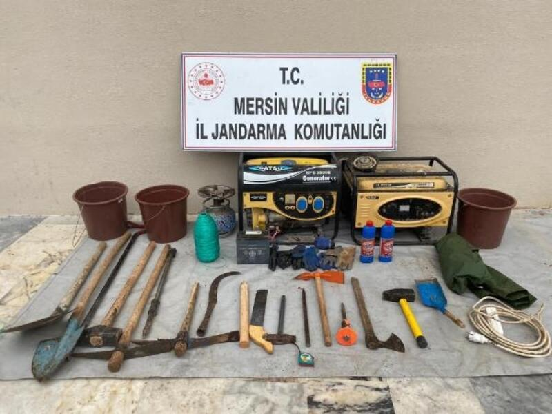 Mersin'de izinsiz kaçak kazıya gözaltı