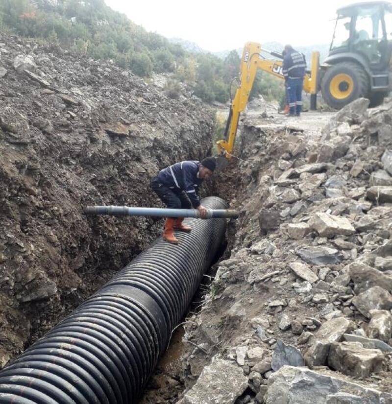 İbradı'da yağmur suyu sorunu çözüldü