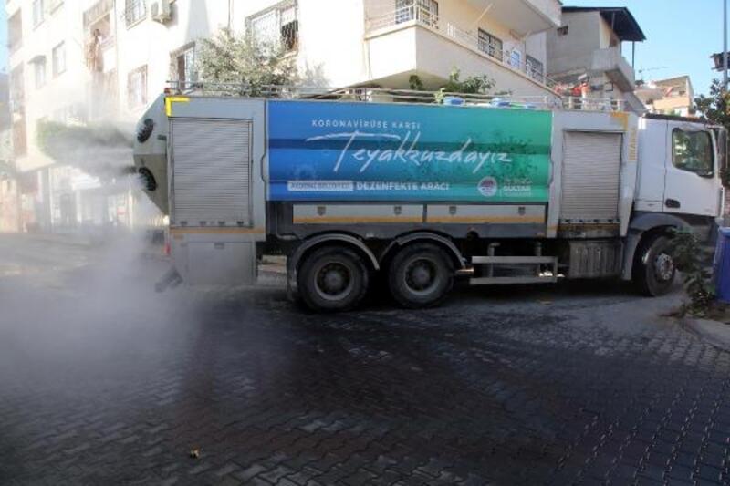 Akdeniz'de dezenfekte çalışmaları sürüyor