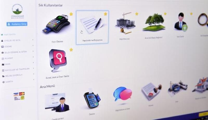 Osmangazi Belediyesi'nden internet üzerinden yapılandırma kolaylığı