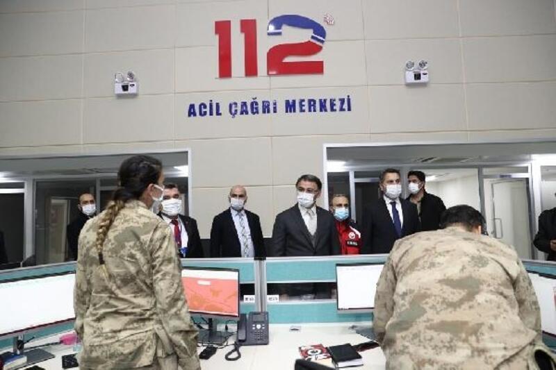 Vali Balcı, 112 Acil Çağrı Merkezi'ni inceledi