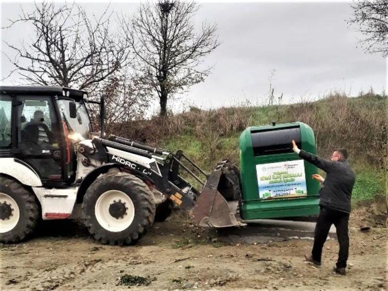 Süleymanpaşa'nın kırsal mahallelerine zirai atık kutuları konuluyor