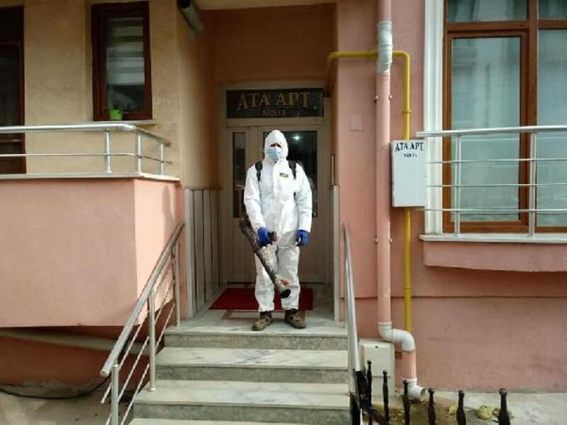 Keşan'da dezenfekte edilen adresler takip ediliyor