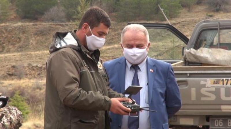 Kırşehir ormanları drone ile izleniyor