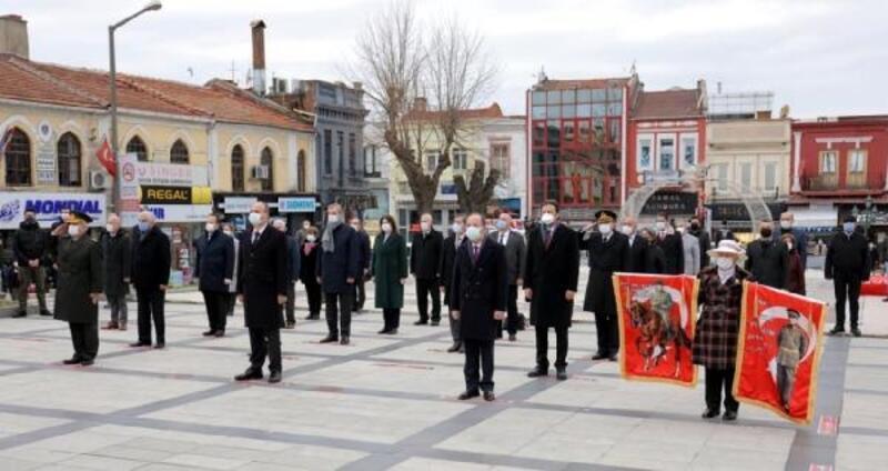 Atatürk'ün Edirne'ye gelişinin 90'ıncı yılı kutlandı