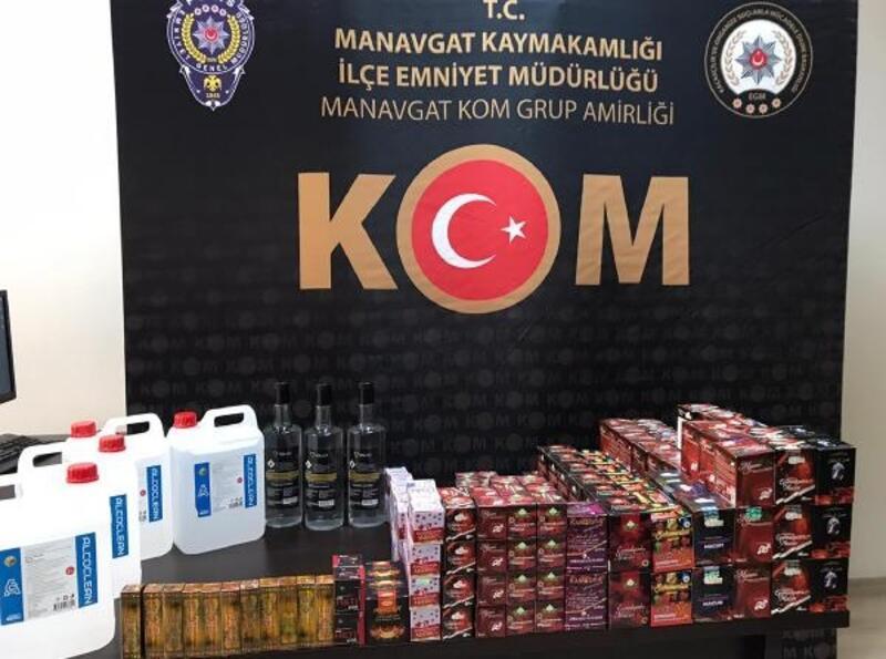 Manavgat'ta 23 litre etil alkol ele geçirildi