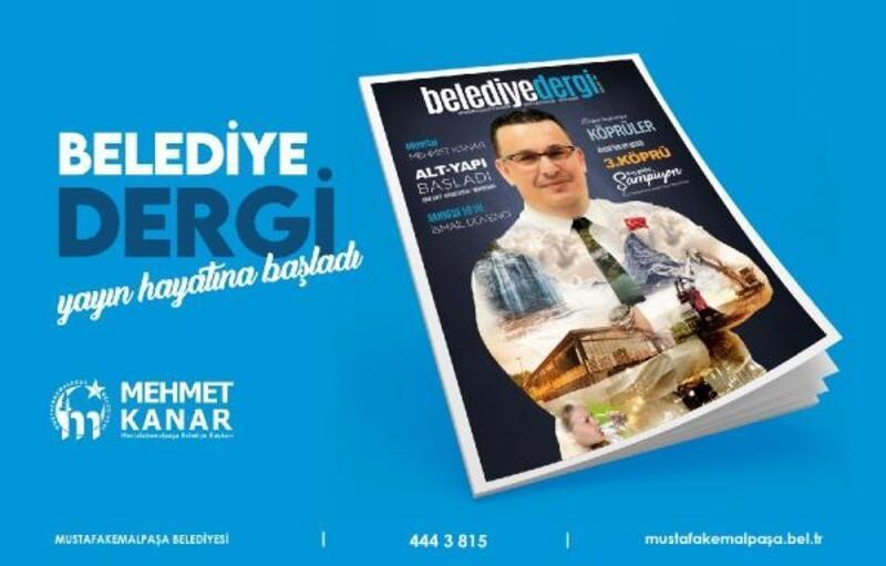 Mustafakemalpaşa Belediyesi'nin dergisi, okuyucuyla buluştu