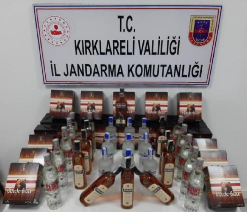 Kırklareli'de 181 litre kaçak içki ele geçirildi