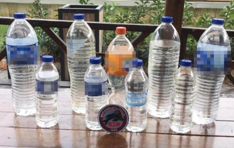 Mersin'de 309 litre sahte içki ele geçirildi