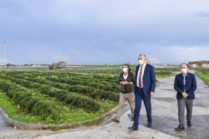 Karacabey Öğretmenler Parkı, botanik parkı andıracak