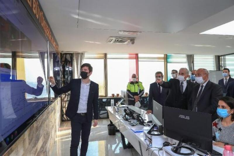 Denizli protokolünden kent trafiğin yönetim merkezine ziyaret