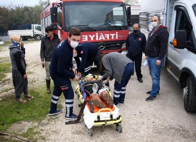 Kaygan yolda kaza: 9 işçi yaralı