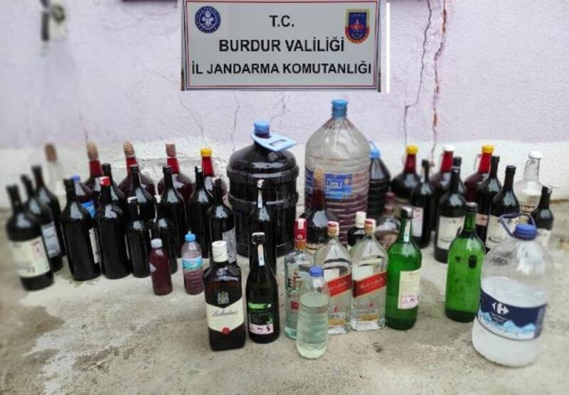 Burdur'da kaçak içki operasyonu