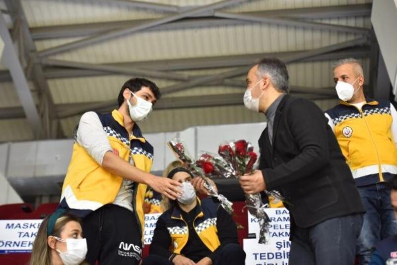 Sağlıkçılar, Frutti Extra Bursaspor - Galatasaray maçıyla moral buldu