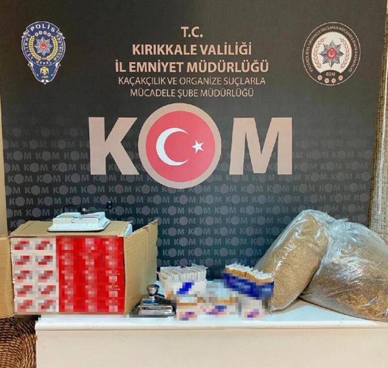 Kırıkkale'de 10 kilo kaçak tütün ele geçirildi