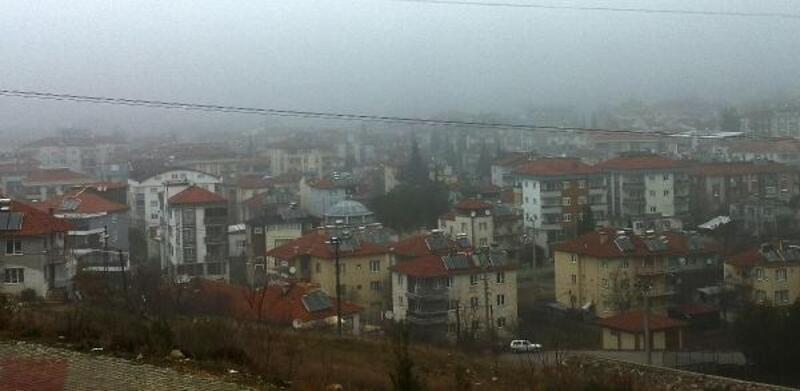 Bucak'ta sis etkili oldu