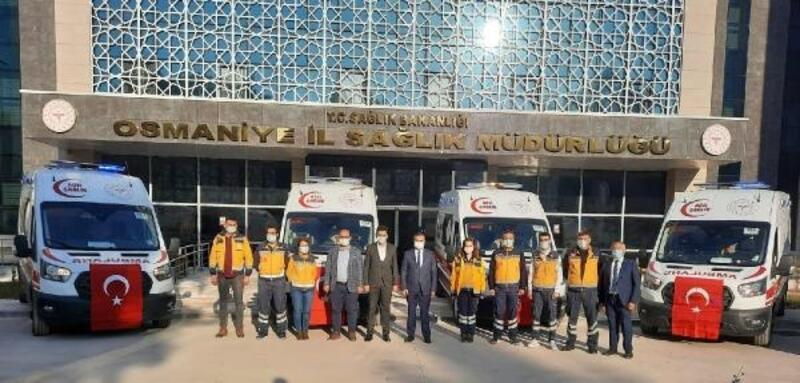 Sağlık Bakanlığı'ndan Osmaniye'ye 6 ambulans