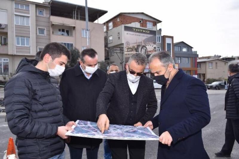 Bursa Büyükşehir Belediyesi çalışıyor, trafik rahatlıyor