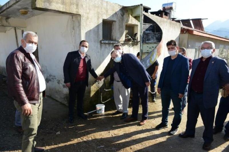 Gazipaşa'da suya hasret iki mahallede büyük sevinç