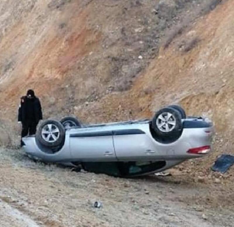 Kayseri'de otomobil devrildi: 3 yaralı