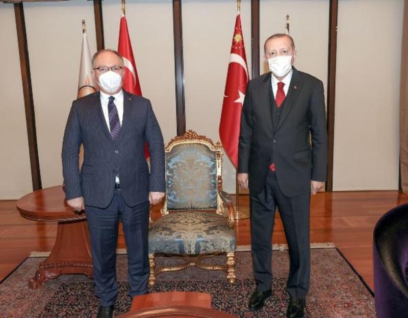 Başkan Bilgin, Cumhurbaşkanı Erdoğan ile bir araya geldi
