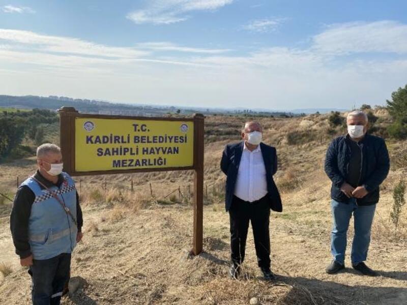 Kadirli'de hayvan mezarlığı açıldı