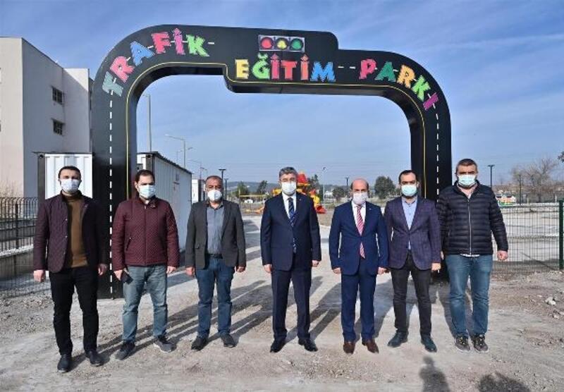 Çocuklar için yapılan Trafik Eğitim Parkı tamamlandı